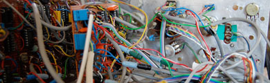 Photo of circuit boards and wires
